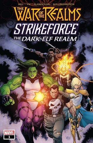 cover War of The Realms Strikeforce: The Dark Elf Realm